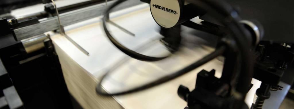 Heidelberg drukpers papier invoeren