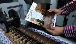 Drukken van folders en magazines